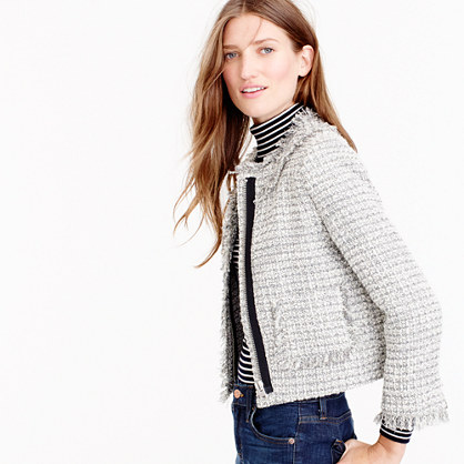 Lady jacket in metallic tweed