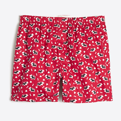 Scottie dog heart boxers