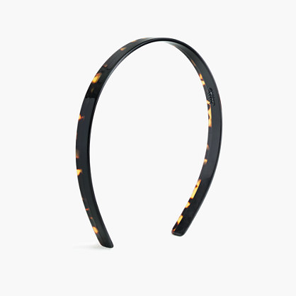 Colorblock headband in Italian tortoise and acetate