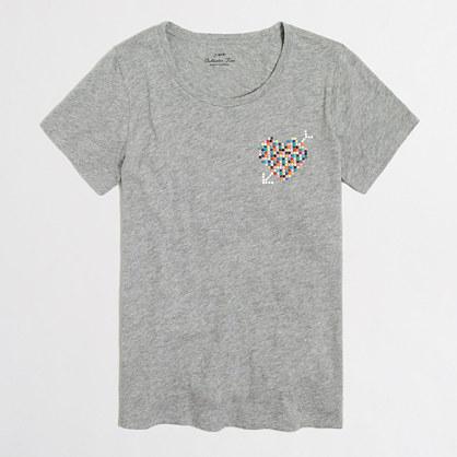 Studded heart collector T-shirt