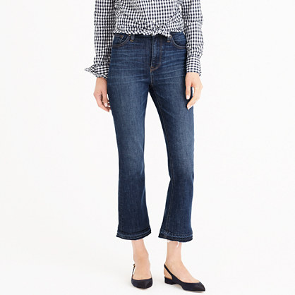 Billie demi-boot crop jean in Brookdale wash