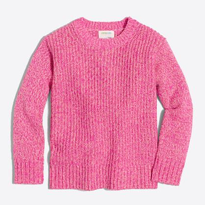 Girls' shimmery Lurex® popover sweater