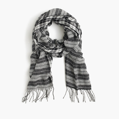 Houndstooth scarf in Italian wool blend