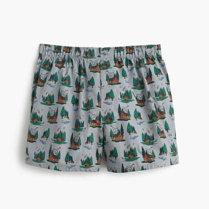 Cabin print boxers