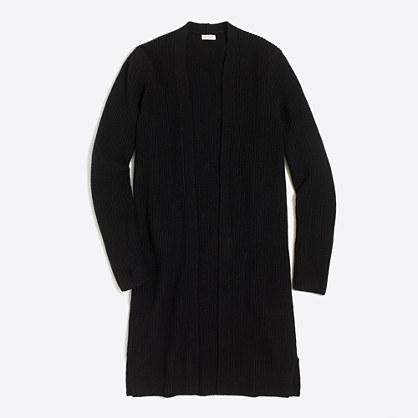 Ribbed car coat