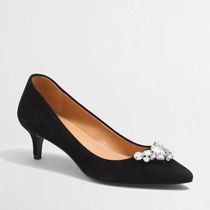 Esme jeweled kitten heels
