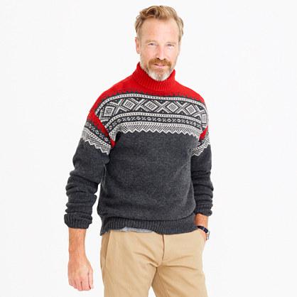 Lambswool Nordic turtleneck sweater