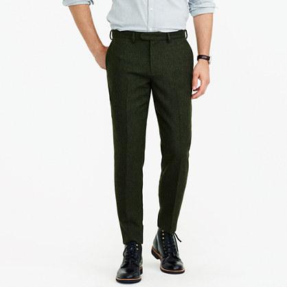 Bowery slim pant in textured wool