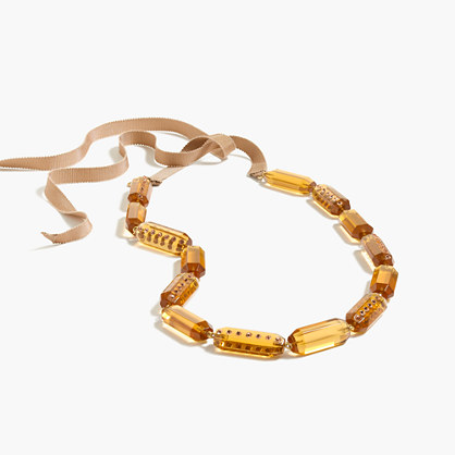 Lucite and pavé necklace