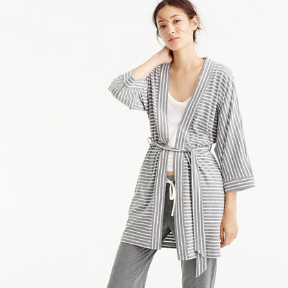 Cotton robe in stripe