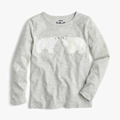 Girls' kissing polar bears T-shirt