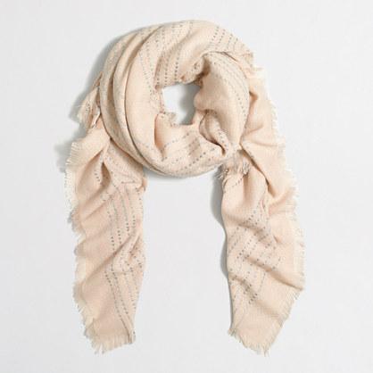 Dot stripe scarf