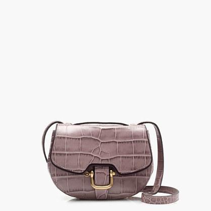 Mini Rider bag in croc-embossed Italian leather