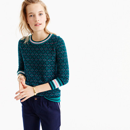 Tippi sweater in festive Fair Isle