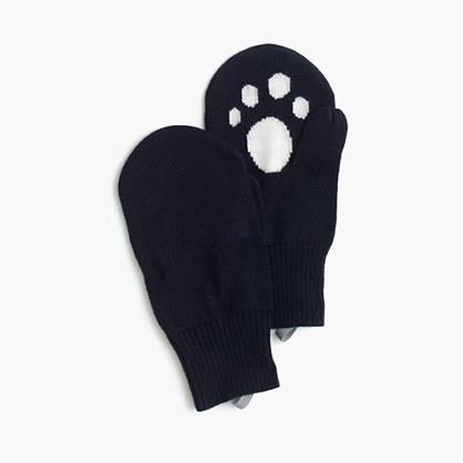 Girls' kitty mittens