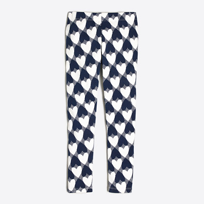 Girls' heart leggings