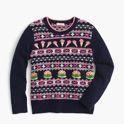 Girls' food Fair Isle sweater