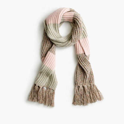 Italian wool-blend striped scarf