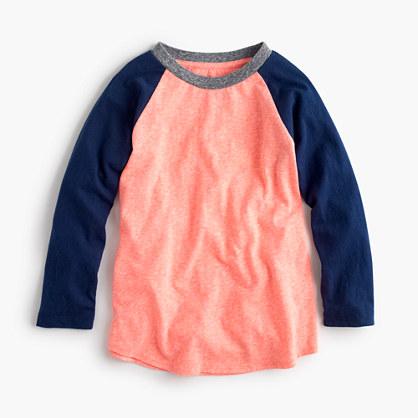 Boys' three-quarter-sleeve baseball T-shirt in the softest jersey