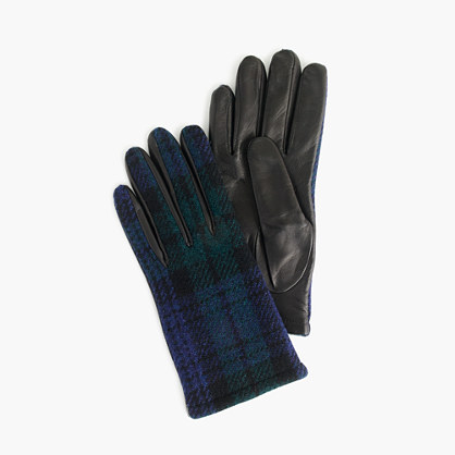 Leather gloves with Black Watch