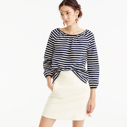 Striped peasant top