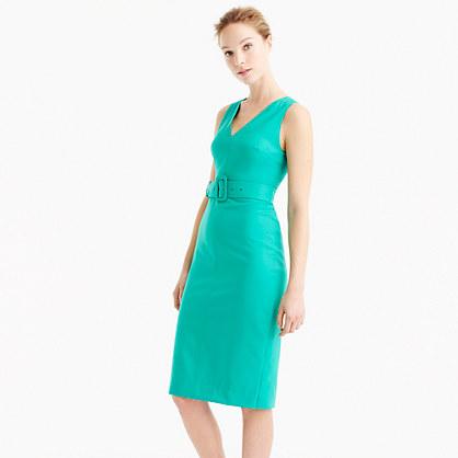 Buckle dress in Super 120s wool