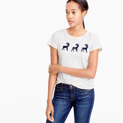 Lace reindeer T-shirt