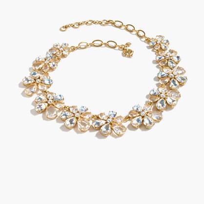Magnolia crystal necklace