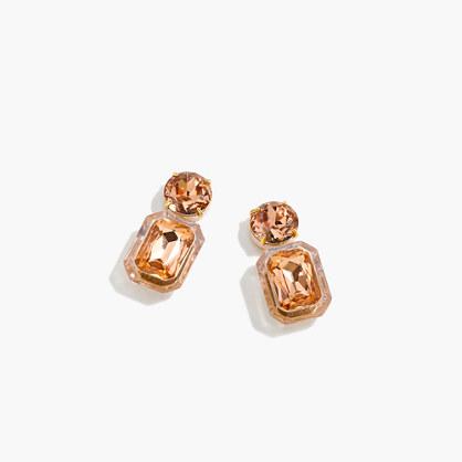 Enamel Lucite crystal drop earrings