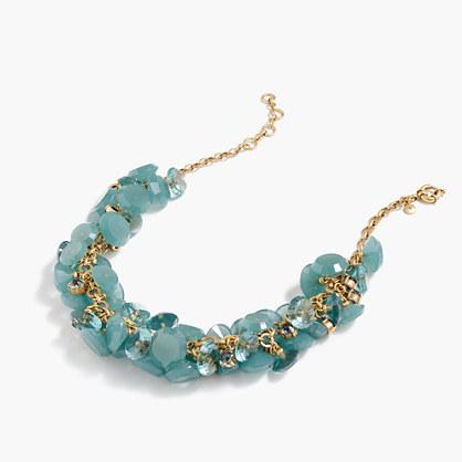 Lucite gem necklace
