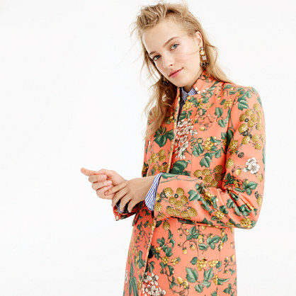 Collection Regent topcoat in Ratti® fruity-floral print