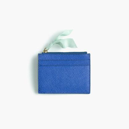 Small zip wallet in Italian leather