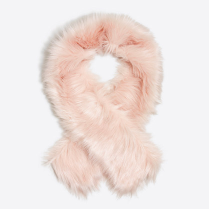 Girls' faux-fur scarf
