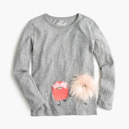 Girls' furry Max the Monster T-shirt