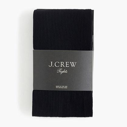 Ribbed tights in black