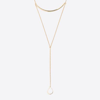 Raindrop Y necklace