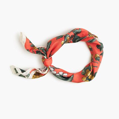 Italian silk square scarf in Ratti® fruity floral print