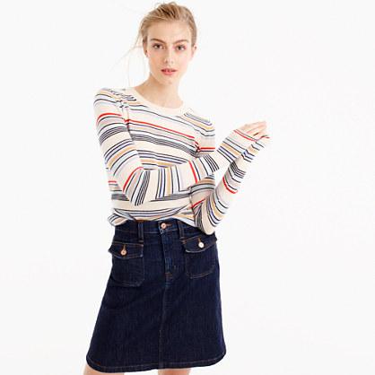 Italian cashmere thin-striped sweater