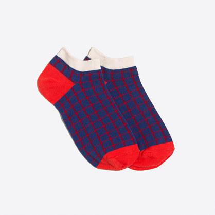 Plaid tennie socks