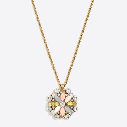 Gemstone medallion necklace