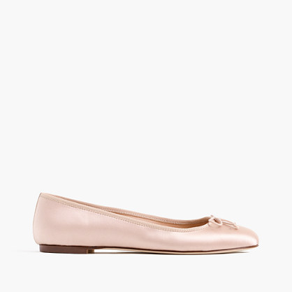 Camille ballet flats in satin