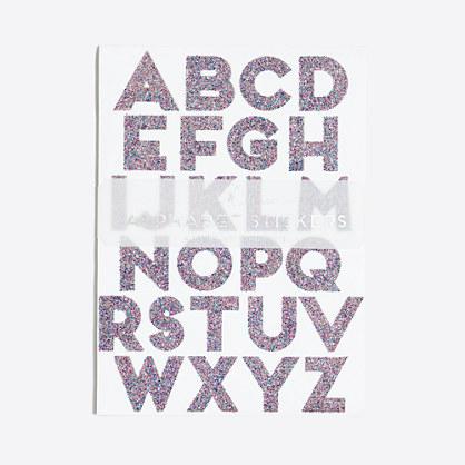 Girls' glitter alphabet stickers