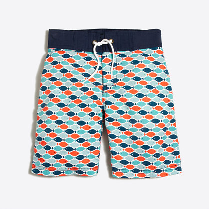 Boys ' printed board short