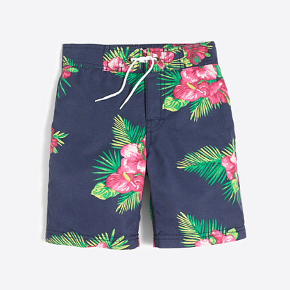 Boys' printed board short