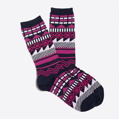 Geometric trouser socks