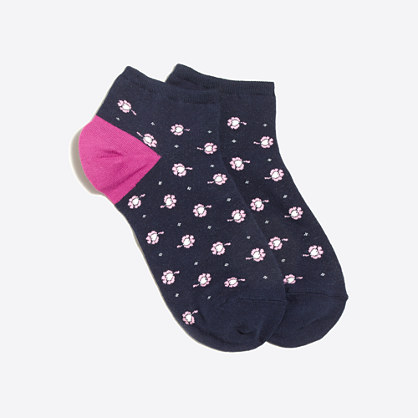 Floral hearts tennie socks