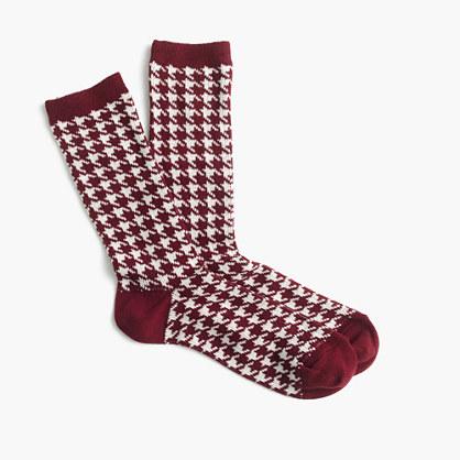 Trouser socks in mini polka dot