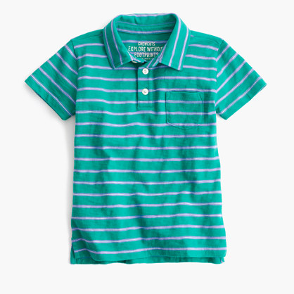 Boys' striped polo shirt