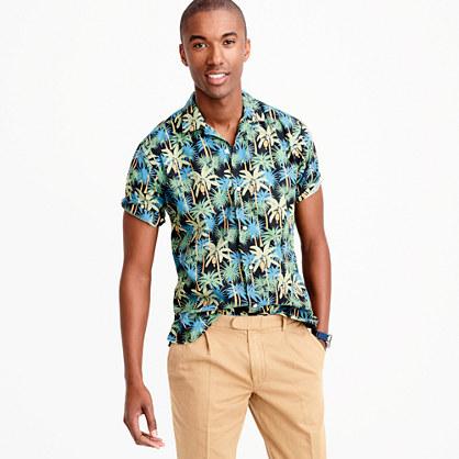 "Gitman Vintageâ""¢ camp-collar shirt in palm tree print"