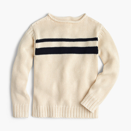 "Boys' striped cotton rollneckâ""¢ sweater"